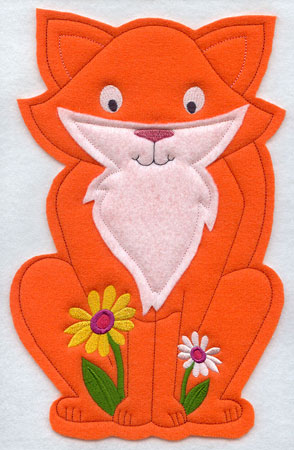 Crafty cut applique fox front.