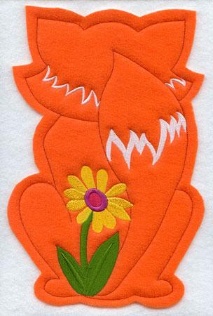 Crafty cut applique fox back.