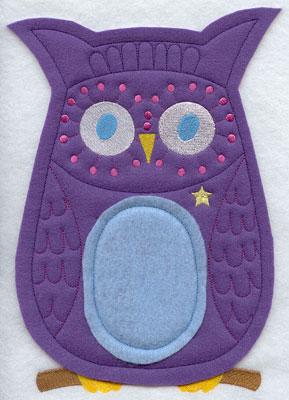 Crafty cut applique owl front.