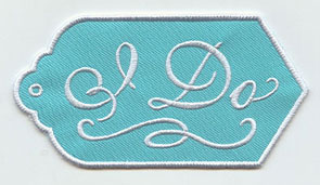 "An in-the-hoop gift tag that says ""I Do."""