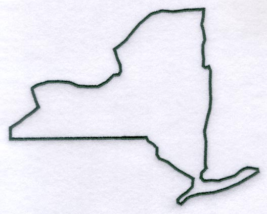 New York State Outline Clipart
