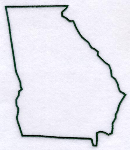Machine Embroidery Designs At Embroidery Library Embroidery Library - Georgia map template