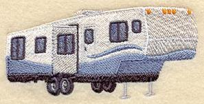 Elegant Vacation Camping RV XB01 Embroidery Design By Embroidery Central