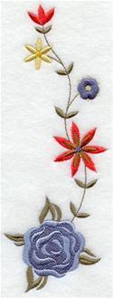 German folk art machine embroidery designs flowers think