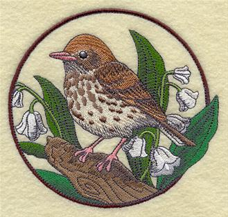 Machine embroidery designs at embroidery library thrushes Wood valley designs