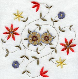 German folk art machine embroidery designs flowers have hit