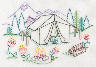 Lastest TRAVEL Trailer Camper Machine Embroidery Design INSTANT