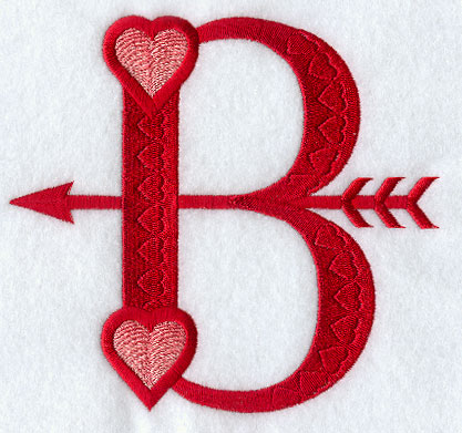 B Letter In Heart Valentine Letter B - 5 inch