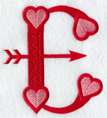 Machine Embroide...A Alphabet Design In Heart