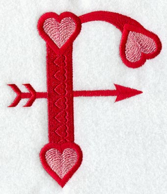 Machine embroidery designs at embroidery library embroidery library valentine letter f 5 inch altavistaventures Choice Image