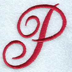 P Alphabet Design Machine Embroidery Designs at Embroidery Library! -