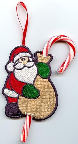 Santa Candy Cane Holder (In-the-Hoop)