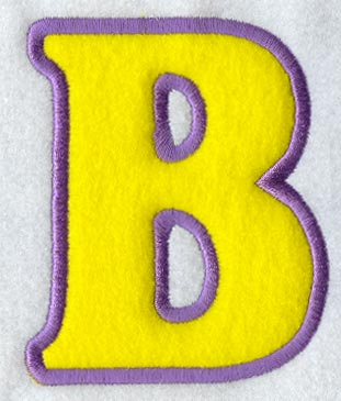 modern letter b applique 5 inch