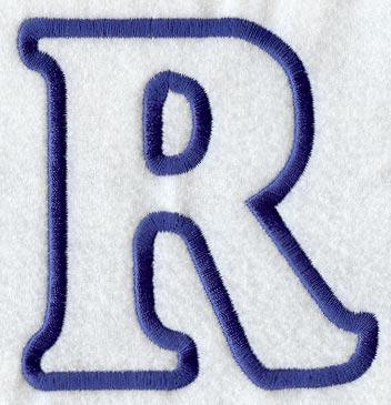 R Alphabet Design PATTERN FOR APPLIQUE LETTERS | APPLIQ PATTERNS