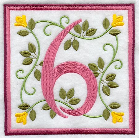 Crochet Number Applique Pattern - Mobile Resources