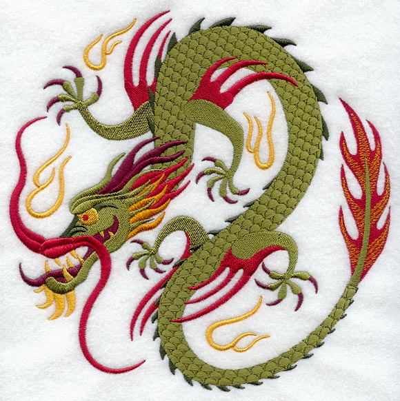 CHINESE DRAGON EMBROIDERY DESIGN   ORIGAMI & EMBROIDERY