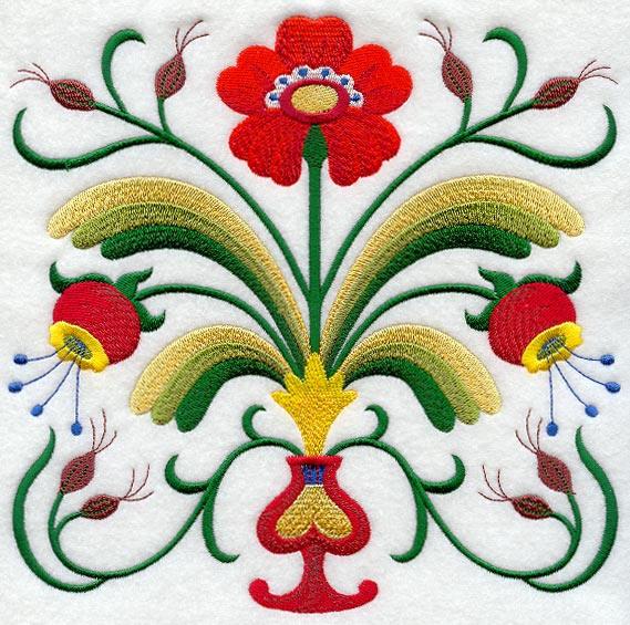 Folk art embroidery designs « origami