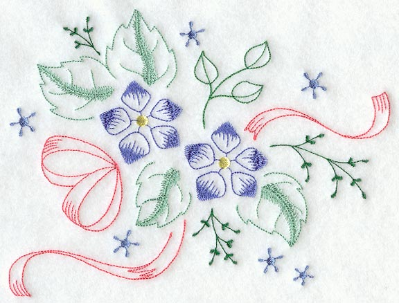 Embroidery flower pattern vintage « origami