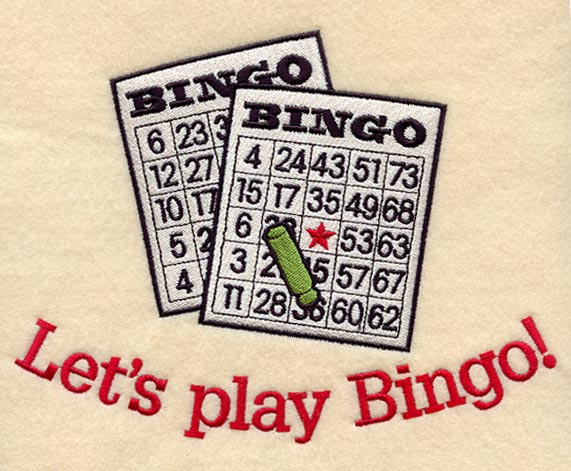 BINGO EMBROIDERY DESIGNS