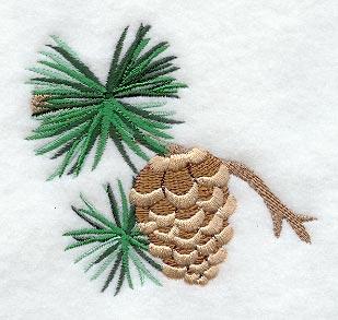 Pine Cone Lodge quilt decor - TheMountainLine.com