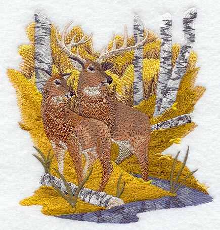 Autumn Deer Pair