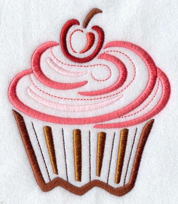 Cupcake embroidery design machine
