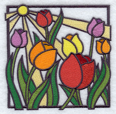 Machine embroidery designs at embroidery library for Simple glass painting designs for beginners