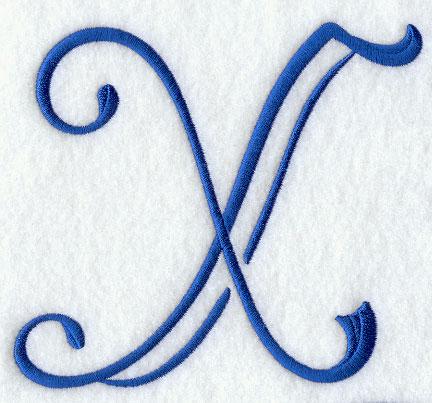 Formal Affair Capital Letter X - 5 Inch
