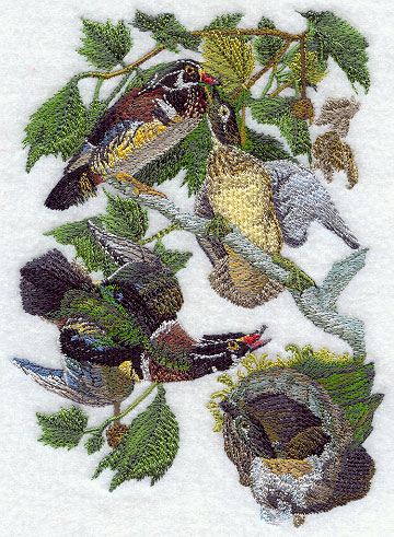 Machine Embroidery Designs at Embroidery Library! - Wood Duck