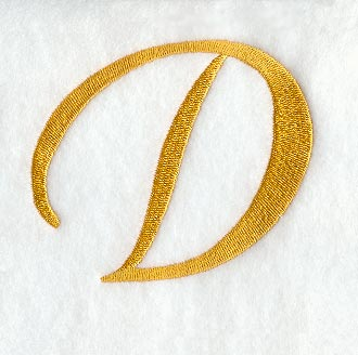 ... Designs at Embroidery Library! - Curly Script Letter D (3 Inch