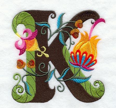 K Letter In Style Stylish Letter K Images Jacobean letter k (5 inch)