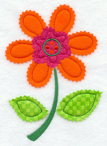 Crafty cut applique uses an open-edge and layering technique to add