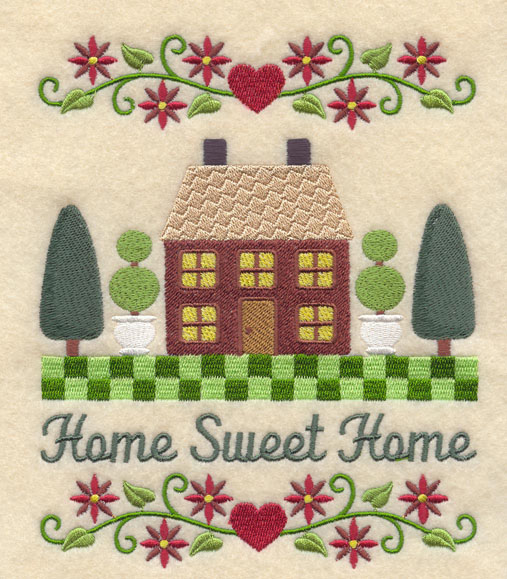 Machine embroidery designs at embroidery library embroidery library - Home sweet home designs ...