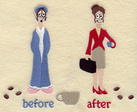 coffee before and after