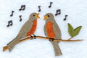 пение птиц с картинками слушать