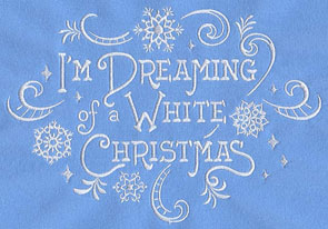 Machine embroidery designs at embroidery library for Dreaming of a white christmas lyrics