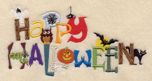 Embroidery Designs from Perfect Little Stitches -- Halloween Designs