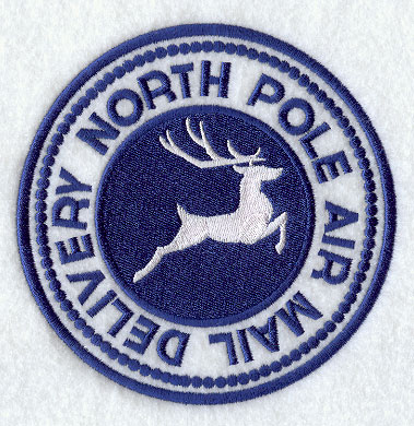 North Pole Stamp North pole air mail delivery