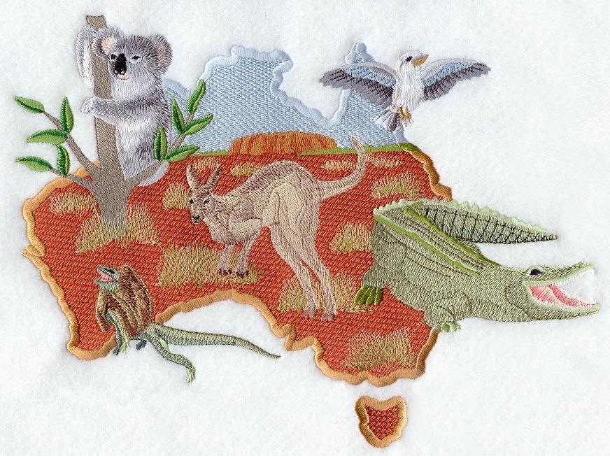 Australian Christmas Machine Embroidery Designs