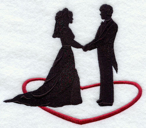 in love silhouette. Bride amp; Groom Silhouette in