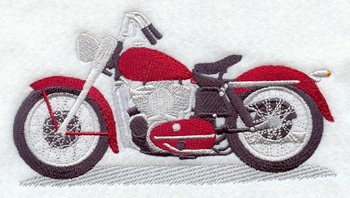 motorcycle machine embroidery designs