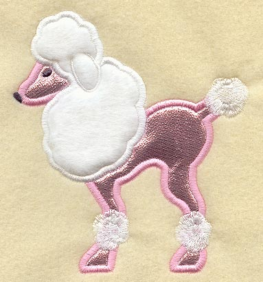 Free patterns for poodle applique appliq patterns for Poodle skirt applique template