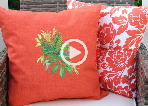 Video: How to Embroider on Outdoor Fabrics