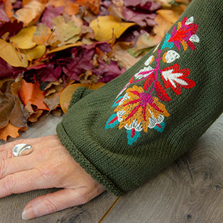 Embroidering on Sweaters Tutorial