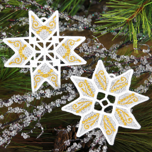 New! Lace Christmas Ornaments
