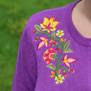 Embroidering on Cardigans Tutorial
