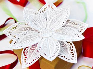 Christmas Lace & Organza Designs