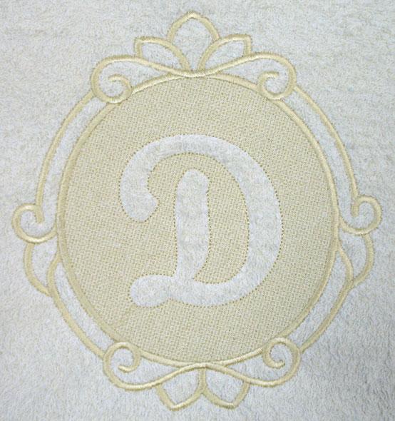 script letter d 78 inch embossed