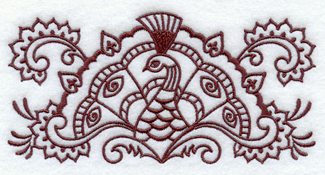 Mehndi Peacock Designs Drawings : Machine embroidery designs at library