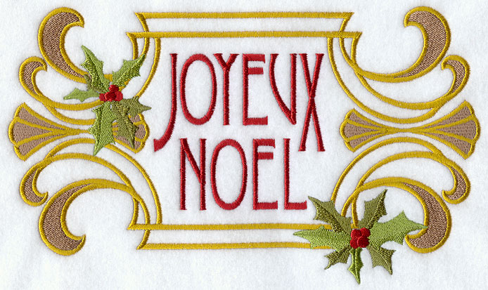 joyeux noel art nouveau - Merry Christmas French